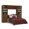 Bestar Versatile by Bestar 109'' Full Wall bed kit in Tuscany Brown