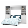 Bestar Versatile by Bestar 109'' Full Wall bed kit in White