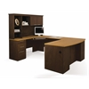 Bestar Hatley by Bestar U-Shaped workstation in Maple & Chocolate