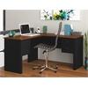 Bestar Somerville L-Shaped desk in Black & Tuscany Brown