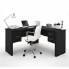 Somerville L-Shaped desk in Black