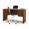 Somerville Workstation with two pedestals in Tuscany Brown
