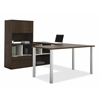 Bestar Contempo U-Shaped desk with hutch in Tuxedo