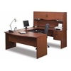 Bestar Harmony U-shaped workstation in Bordeaux & Charcoal