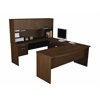 Bestar Harmony U-shaped workstation in Chocolate