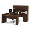 Executive U-shaped workstation in Chocolate