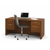 Bestar Embassy Executive Desk with Dual Half Peds in Tuscany Brown