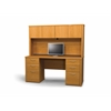 Embassy credenza and hutch kit in Cappuccino Cherry
