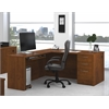 Bestar Embassy L-shaped workstation kit in Tuscany Brown