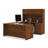 Bestar Embassy U-shaped worksation kit in Tuscany Brown