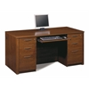 Bestar Embassy executive desk kit including assembled pedestals in Tuscany Brown