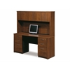 Embassy credenza and hutch kit including assembled pedestals in Tuscany Brown