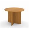 "42"" round meeting table with 1"" melamine top in Cappuccino Cherry"