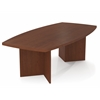 "Bestar BESTAR boat shaped conference table with 1 3/4"" melamine top in Bordeaux"