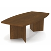 "Bestar BESTAR boat shaped conference table with 1 3/4"" melamine top in Tiscany Brown"