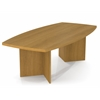 "Bestar BESTAR boat shaped conference table with 1 3/4"" melamine top in Cappuccino Cherry"