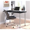"Bestar Bestar 24"" x 48"" Table with round metal legs in Black"