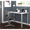 """Bestar Bestar 24"""" x 48"""" Table with square metal legs in White"""