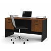 Bestar Hampton executive desk in Tucany Brown & Black