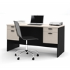 Bestar Hampton executive desk in Sand Granite & Charcoal
