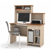 Bestar Active computer workstation in Copper Cherry & Northern Maple