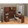 Bestar Flame L-shaped workstation in Cognac Cherry