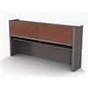 Bestar Connexion Hutch for credenza in Bordeaux & Slate