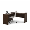 Bestar Prestige + L-shaped workstation in Chocolate