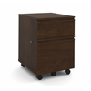 Bestar Prestige + mobile pedestal in Chocolate