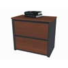 "Prestige + 36"" assembled lateral file in Bordeaux & Graphite"