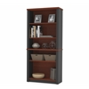 Bestar Prestige + modular bookcase in Bordeaux and Graphite