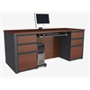Prestige + executive desk in Bordeaux & Graphite