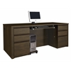 Prestige + executive desk in Chocolate