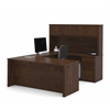 Prestige + U-shaped workstation including two pedestals in Chocolate