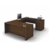 Prestige + U-shaped workstation including one pedestal in Chocolate