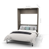 "Classic 118"" Full Wall Bed kit in Bark Gray and White"