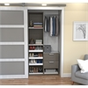 "Deluxe 39"" Reach-In Closet in Bark Gray and White"