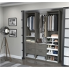 "Elite 59"" Reach-In Closet in Bark Gray and White"