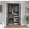 "Classic 59"" Reach-In Closet in Bark Gray and White"