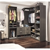 Premium Corner Walk-In Closet in Bark Gray and White
