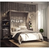 """Elite 104"""" Queen Wall Bed kit in Bark Gray and White"""