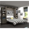 """Premium 104"""" Queen Wall Bed kit in Bark Gray and White"""