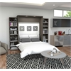 """Classic 104"""" Queen Wall Bed kit in Bark Gray and White"""