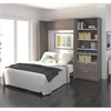 """Premium 89"""" Full Wall Bed kit in Bark Gray and White"""