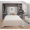 """Classic 98"""" Full Wall Bed kit in Bark Gray and White"""