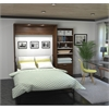 """Premium 95"""" Queen Wall Bed kit in Oak Barrel and White"""