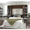"""Classic 98"""" Full Wall Bed kit in Oak Barrel and White"""