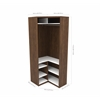 "37"" Multipurpose Corner Unit in Oak Barrel and White"