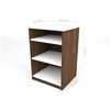 "19.5"" Base Storage Unit in Oak Barrel and White"