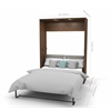 """Deluxe 98"""" Full Wall Bed kit in Oak Barrel and White"""